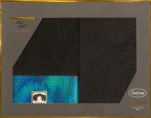 Eva Minge Komplet Ręczników CAMILA 50x90 Czarny Eurofirany