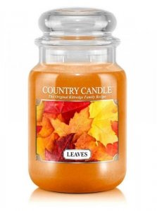Country Candle - Leaves - Duży słoik (652g) 2 knoty