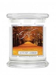 Kringle Candle - Autumn Amber - średni, klasyczny słoik (411g) z 2 knotami
