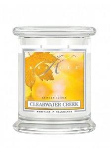 Kringle Candle - Clearwater Creek - średni, klasyczny słoik (411g) z 2 knotami