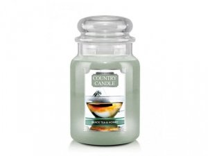 Country Candle - Black Tea & Honey - Duży słoik (680g) 2 knoty
