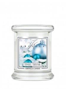 Kringle Candle - Tinsel Thyme - mini, klasyczny słoik (128g)