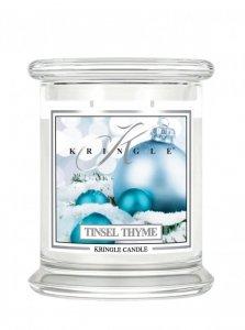Kringle Candle - Tinsel Thyme - średni, klasyczny słoik (454g) z 2 knoty