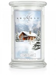 Kringle Candle - Cozy Cabin - duży, klasyczny słoik (623g) z 2 knotami