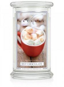 Kringle Candle - Hot Chocolate - duży, klasyczny słoik (623g) z 2 knotami