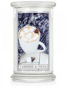 Kringle Candle - Cashmere & Cocoa - duży, klasyczny słoik (623g) z 2 knotami