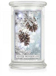 Kringle Candle - Winter Wonderland - duży, klasyczny słoik (623g) z 2 knotami