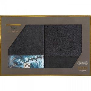 Eva Minge Komplet Ręczników CHIARA 70x140 Czarny Eurofirany