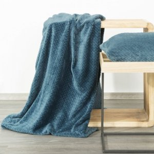 Koc Narzuta CINDY3 70X160 Niebieski Design 91