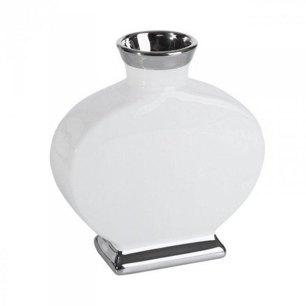 EMMY Wazon 01 25X10X27 Biały+Srebrny