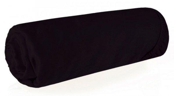 Prześcieradło NOVA3 z makosatyny 220X200 z gumką Czarne Eurofirany