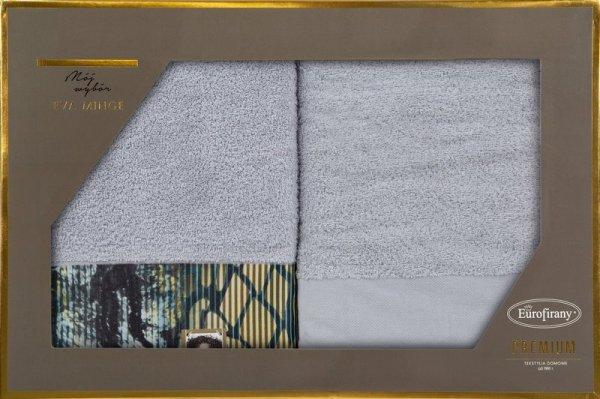 Eva Minge Komplet Ręczników CARLA 70x140 Srebrny Eurofirany