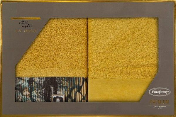 Eva Minge Komplet Ręczników CARLA 50x90 Musztardowy Eurofirany