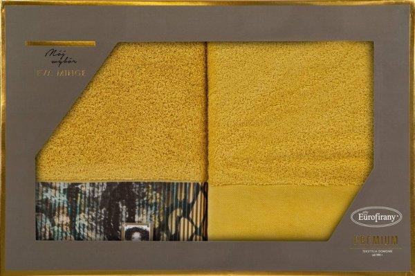 Eva Minge Komplet Ręczników CARLA 70x140 Musztardowy Eurofirany