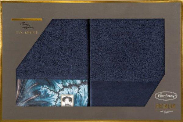 Eva Minge Komplet ręczników CHIARA 70x140 Granatowy Eurofirany