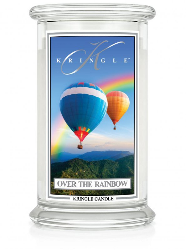 Kringle Candle - Over the Rainbow - duży, klasyczny słoik (623g) z 2 knotami