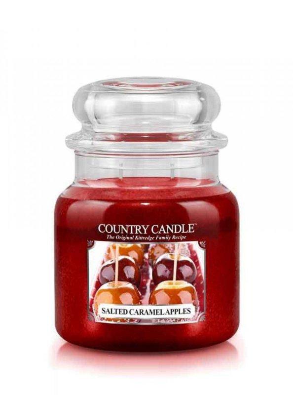 Country Candle - Salted Caramel Apples -  Średni słoik (453g) 2 knoty