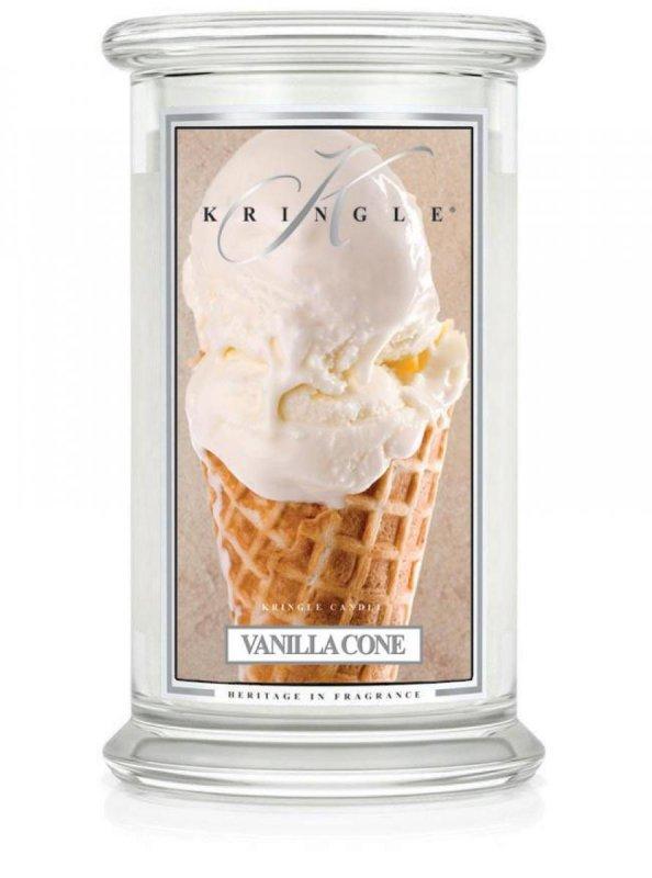 Kringle Candle - Vanilla Cone - duży, klasyczny słoik (623g) z 2 knotami