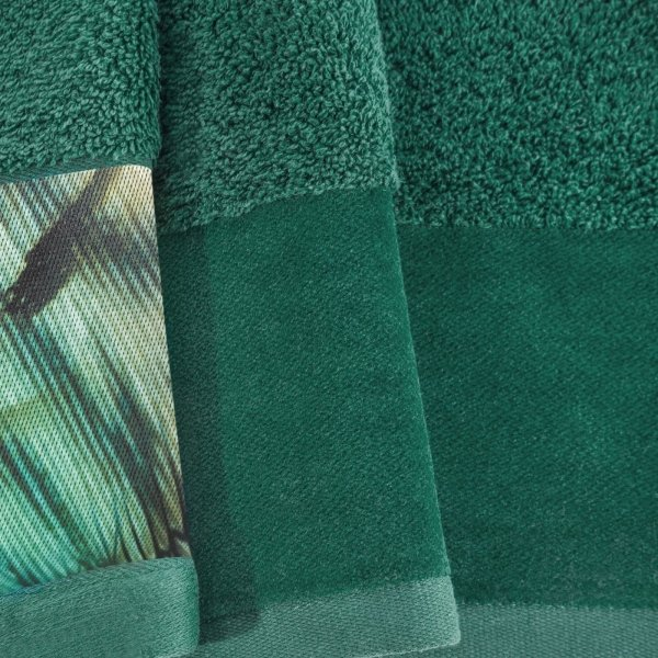 Eva Minge Komplet Ręczników COLLIN 70x140 Ciemny Zielony Eurofirany