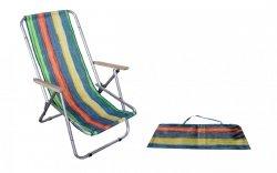 Hit lata!Leżak plażowy składany do torby drewniany podłokietnik