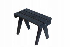 Stolik drewniany EcoFurn Granny Sosna Czarny Olej