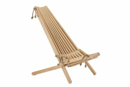Fotel Drewniany EcoChair modrzew naturalny