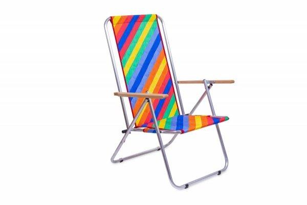 Leżak dwupozycyjny w pozycji siedzącej