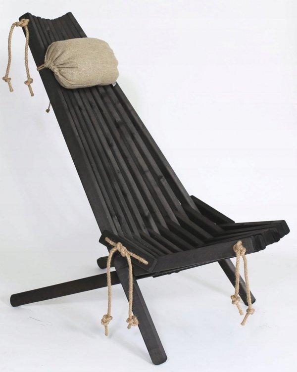 Leżak Fotel drewniany EcoFurn EcoChair Brzoza Biały Olej