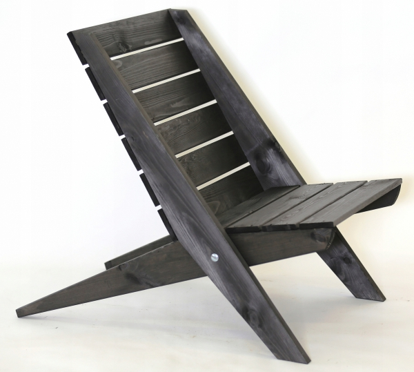 Fotel drewniany Granny sosna szara