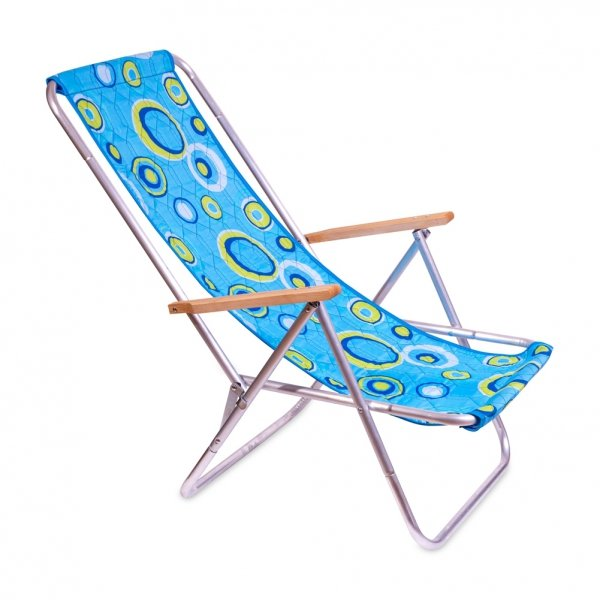 leżak plażowy składany tkanina kolorowe oczka