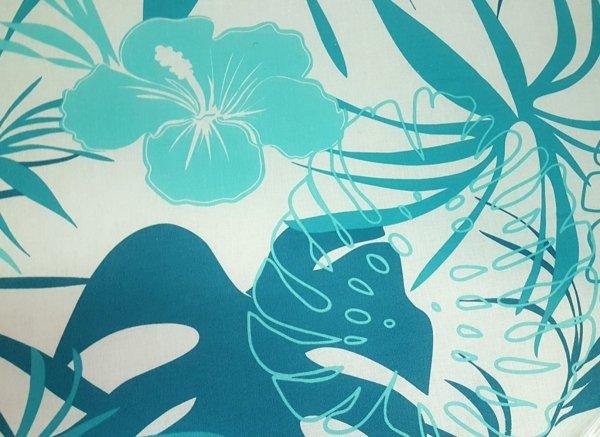 Tkanina materaca ibiza lux biała w kwiaty