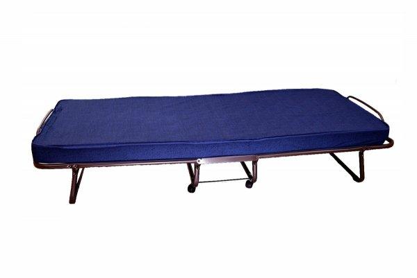Łóżko składane polowe dostawka hotelowa TORINO 80 x 190 cm materac 10 cm grubości