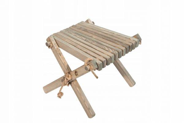 Stolik podnóżek drewniany EcoFurn Jesion Szary
