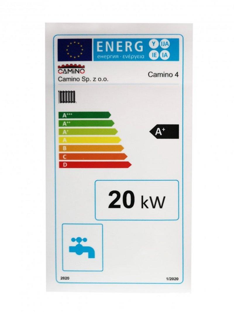 Zestaw adaptacyjny kotła Camino typu SLIM na pellet spełniający EcoDesign i 5 klasę o mocy 20 KW - ecoMax 360