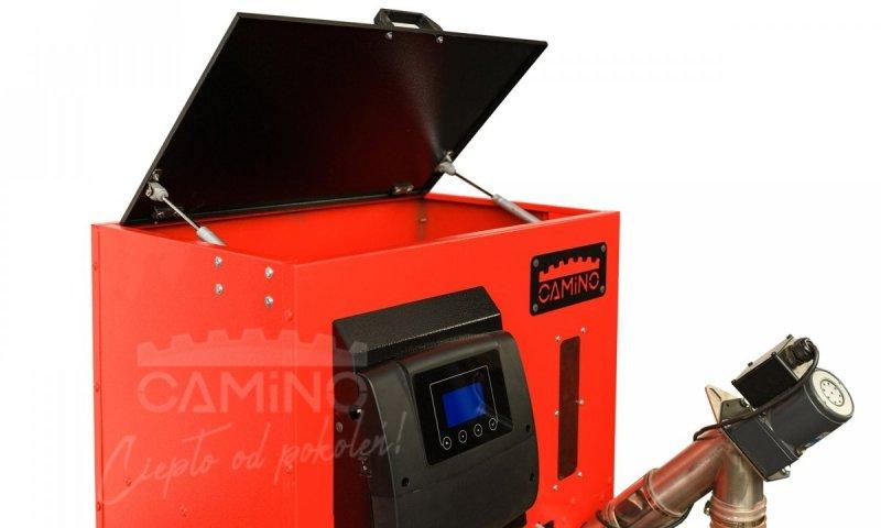 Camino 4 Slim - żeliwny kocioł na pellet z podajnikiem o mocy 15 KW EcoMax 920 simTOUCH ST4 Seperate