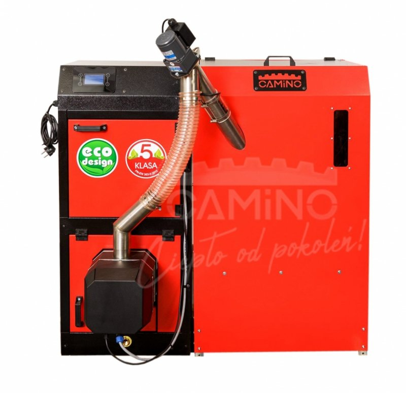 Camino 4 żeliwny kocioł na pellet z podajnikiem o mocy 15 KW ecoMax 920 simTOUCH ST4 Seperate