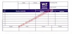 Druk WZ - wydanie materiałów na zewnątrz 1+1