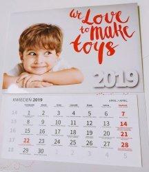 Kalendarz trójdzielny według projektu klienta