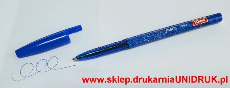 Długopis niebieski Toma Jeans