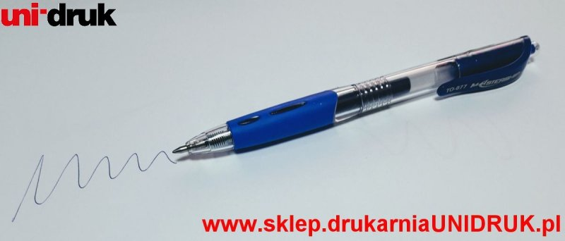 Długopis niebieski Toma - żelowy