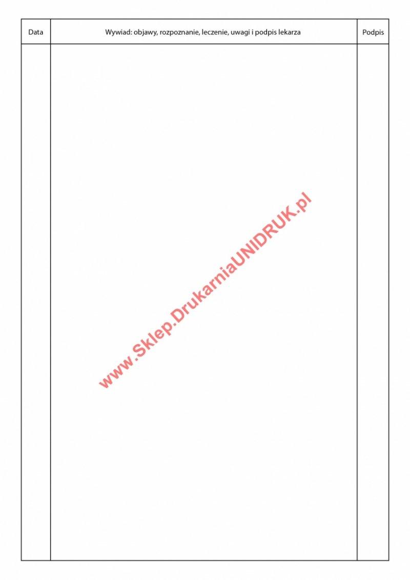Historia Choroby A4 - druk
