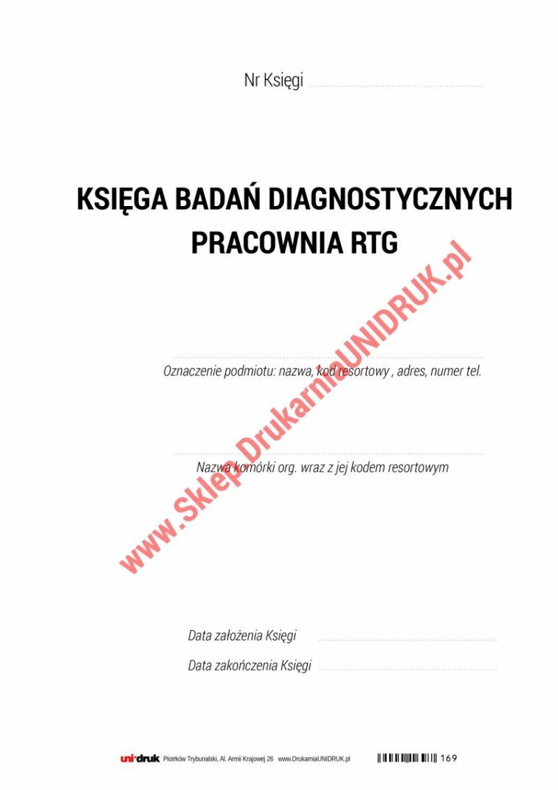 Księga pracowni RTG analogowa A4 - 100 kart