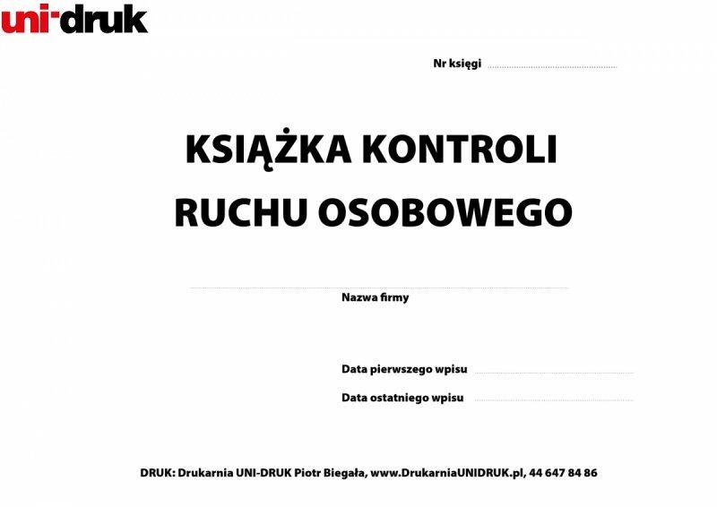 Książka Kontroli Ruchu Osobowego A-4 opr. twarda