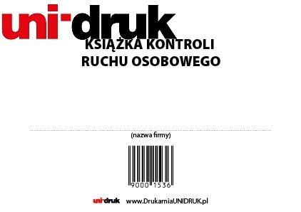 Książka Kontroli Ruchu Osobowego A-4 opr. miękka