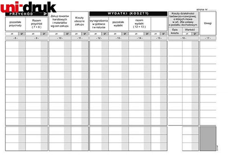 Podatkowa księga przychodów i rozchodów K-3U