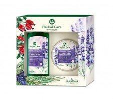 Farmona zestaw prezentowy Herbal Care Lawenda masło do ciała 200ml + kąpiel odprężająca 500ml