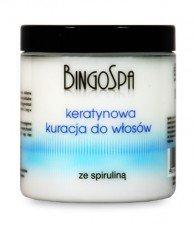 BINGOSPA Keratynowa Kuracja Do Włosów Ze Spiruliną 250g