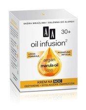 AA Oil Infusion Krem Na Noc Odżywienie + Wygładzenie Zmarszczek 30+ 50ml Skóra wrażliwa i skłonna do alergii