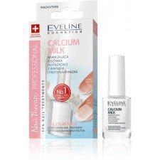EVELINE Nail Therapy Nawilżająca Odżywka Do Paznokci z Wapniem i Proteinami Mleka Calcium Milk 12ml