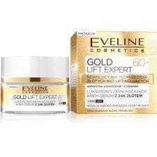 EVELINE Gold Lift Expert Luksusowy Odmładzający Krem-Serum Z 24K Złotem 60+ 50ml